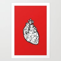 anatomical heart Art Prints featuring Anatomical Heart by Horse and Hare