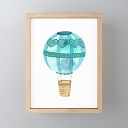 Take Your Heart - Blue Balloon Framed Mini Art Print