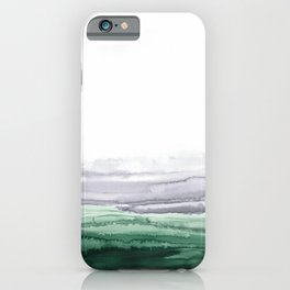 Emerald gray landscape  iPhone Case