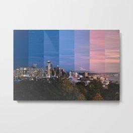 Seattle evening timeslice (West) Metal Print