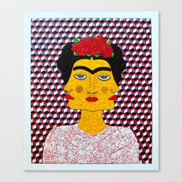 Frida Kahlo al Cubo Canvas Print