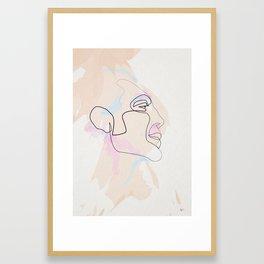 One Line Javier Bardem Framed Art Print