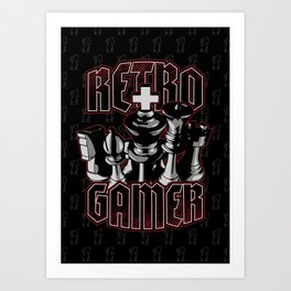 Chess Retro Gamer Art Print