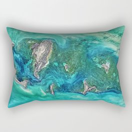 Ice Scours the North Caspian Sea Rectangular Pillow