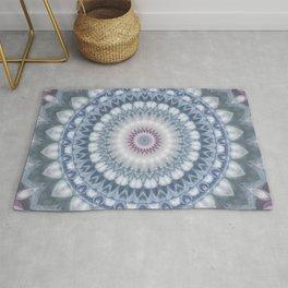 Plum and Grey Mandala Rug