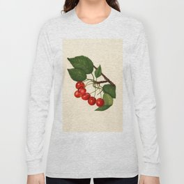 Vintage Illustration of a Cherries Long Sleeve T-shirt