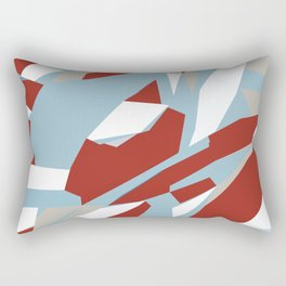 Hastings Zoom Red Rectangular Pillow