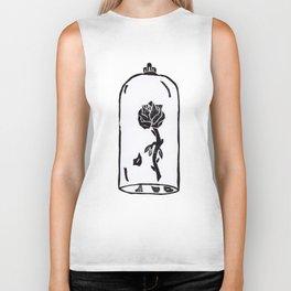 Rose under glass Biker Tank