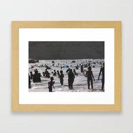 Shadow Beach Framed Art Print