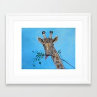vegan Framed Art Prints featuring VEGAN by RokinRonda