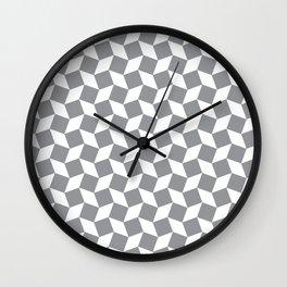 Grey Op Art Pattern Wall Clock