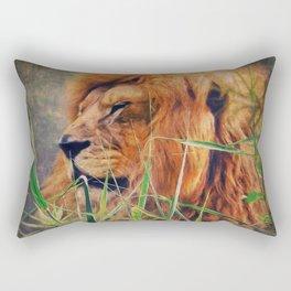 A  Lion portrait Rectangular Pillow