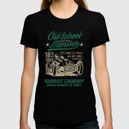 old school road race monster T-shirt