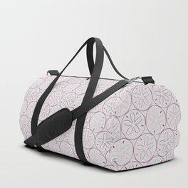 Sanddollar Pattern in Purple Duffle Bag