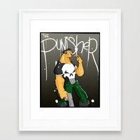 punisher Framed Art Prints featuring The Punisher by Pahito