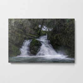Dual Waterfalls Metal Print