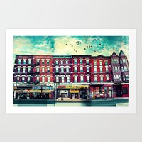A Chicago Avenue Art Print