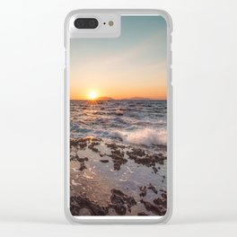 Peaceful atmosphere at sunset Clear iPhone Case