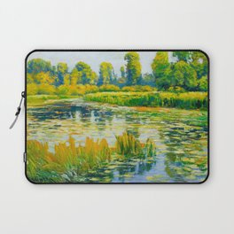 Václav Radimský (1867-1946) Water Lilies Impressionist Landscape Painting Bright Colors Oil Laptop Sleeve
