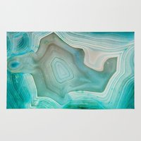 river Area & Throw Rugs featuring THE BEAUTY OF MINERALS 2 by Catspaws