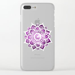 Purple Galaxy Mandala Clear iPhone Case