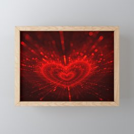 Cupid's Arrows | Valentines Day | Love Red Black Heart Texture Pattern Framed Mini Art Print