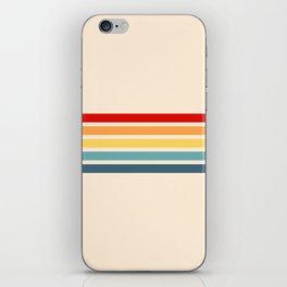 Takaakira - Classic Rainbow Retro Stripes iPhone Skin