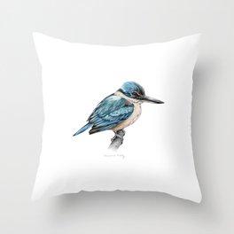 New Zealand Kingfisher Throw Pillow