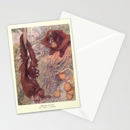 Finn - The Wild Beasts of the World (1909) - Vol 1 Plate 3 Orangutans Stationery Cards