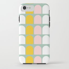 Pink, Orange and White Ice-Lollies on Teal iPhone Case
