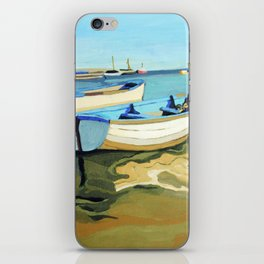 The Blue Boats iPhone Skin