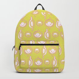 Memphis Style Geometric Abstract Seamless Vector Pattern, Hand Drawn Stylized Circle Shapes Backpack