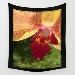 Yellow Orchid Flower Blossom from Mexico Wall Tapestry