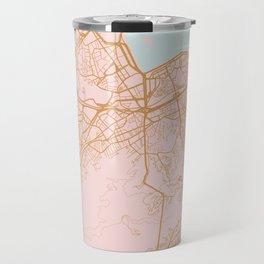 Rio de Janeiro map, Brazil Travel Mug