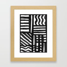 Ink Pattern Framed Art Print