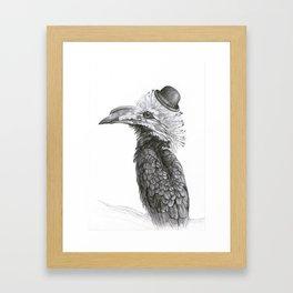 Fancy Hornbill Framed Art Print