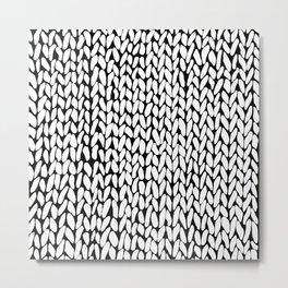 Hand Knitted Loops Metal Print