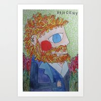 van gogh Art Prints featuring van gogh by fieltrovitz