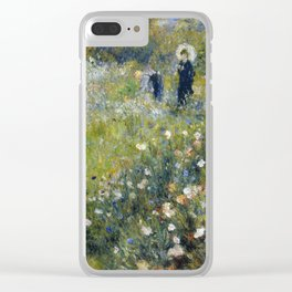 Woman with a Parasol in a Garden -Renoir Clear iPhone Case