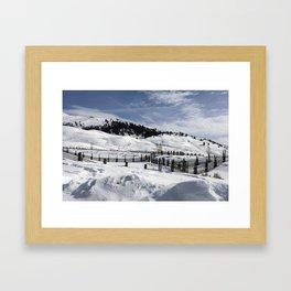 Carol M Highsmith - Snow Covered Hills Framed Art Print