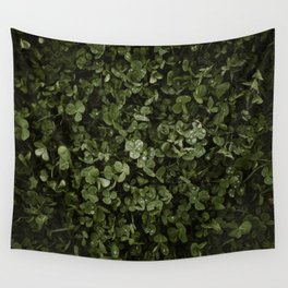Clover with Rain Drops Wall Tapestry