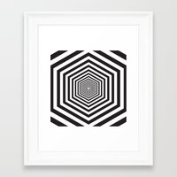 hexagon Framed Art Prints featuring Hexagon by Vadeco