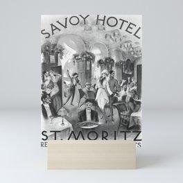 Vintage Savoy Hotel St Moritz Mini Art Print