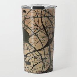 Pollock Inspired Cool Abstract Splatter Drip Painting Travel Mug