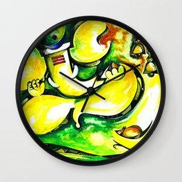 Hindu Lord Ganesha Handmade Water Color Painting Wall Clock