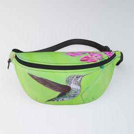 Hummingbird & Sweet Peas Painting Fanny Pack