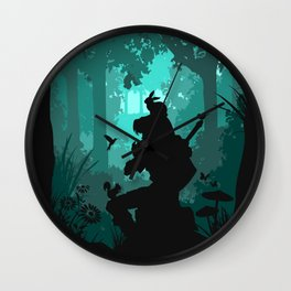 Ocarina in the Woods Wall Clock