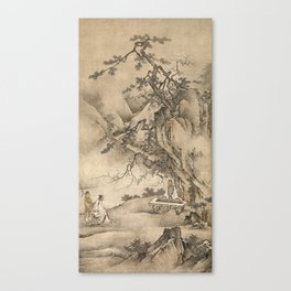 Bo Plays the Qin Canvas Print