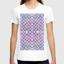 Abstract Blue and Purple Pattern T-shirt