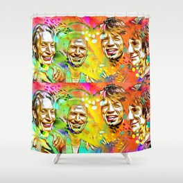 The Stones Pop Art Painting Shower Curtain